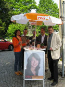 CDU am 9.5.2009 in Littenweiler: Heike Weyer