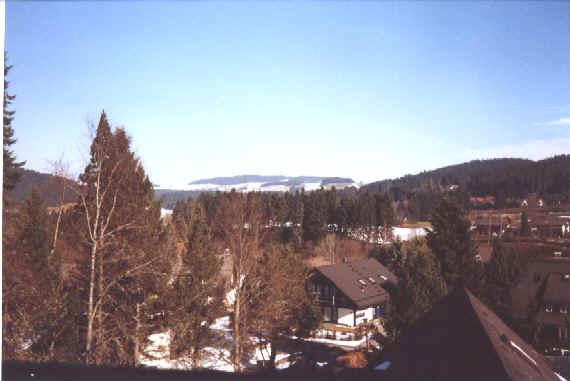 Blick Vom Balkon Vor Dem Wohnzimmer Nach Norden Oben Sieht Man Die Hnge Von Breitnau Links Bzw Weisstannenhhe Rechts